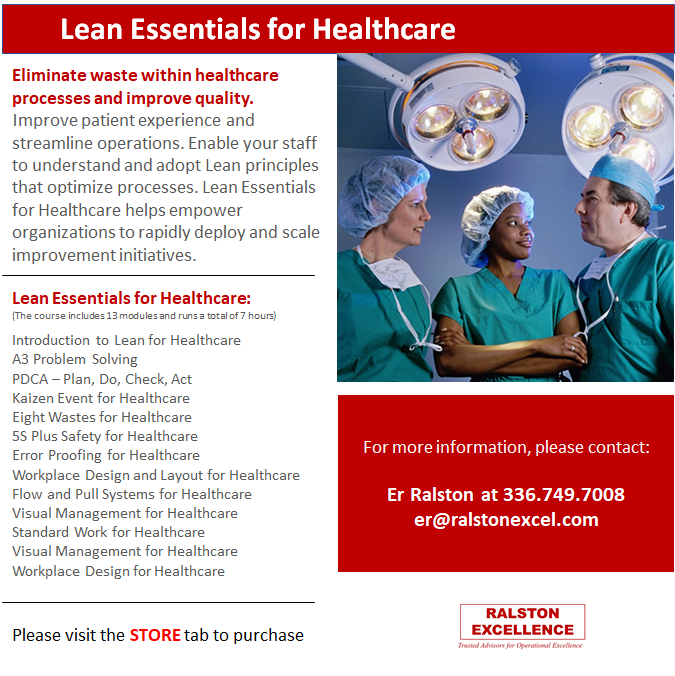 Lean Essentials Healthcare by Ralston Excellence