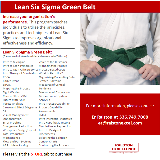 Lean Six Sigma Green Belt by Ralston Excellence