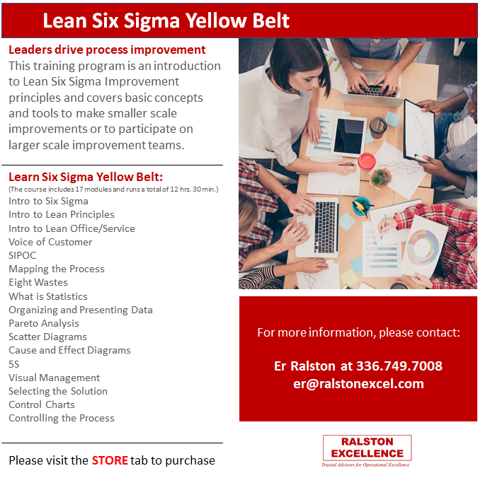 Lean Six Sigma Yellow Belt by Ralston Excellence