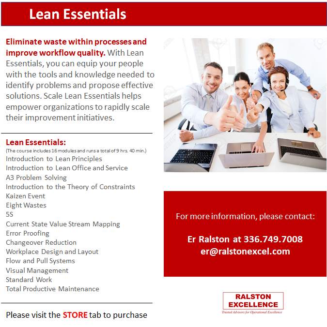 Lean Essentials by Ralston Excellence